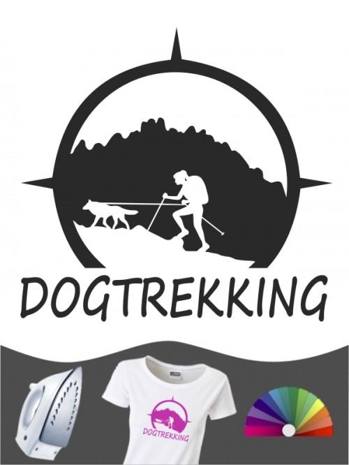Hunde-Bügelbild Dogtrekking 7a von Anfalas.de