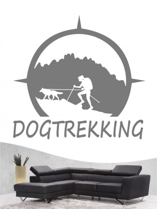 Hunde-Wandtattoo Dogtrekking 7a von Anfalas.de