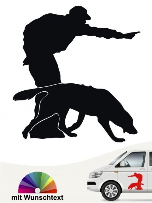 Hunde-Autoaufkleber Dummytraining 11 von Anfalas.de