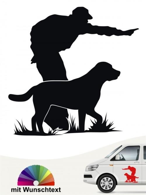 Dummytraining Hund Aufkleber mit Wunschtext von anfalas.de