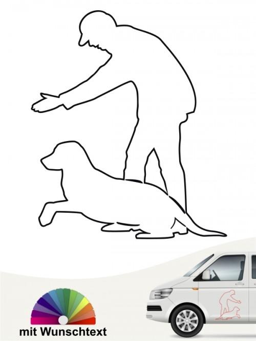 Dummytraining Hund Aufkleber mit von anfalas.de