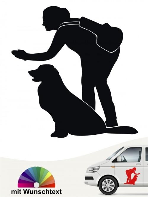 Hunde-Autoaufkleber Dummytraining 19 von Anfalas.de