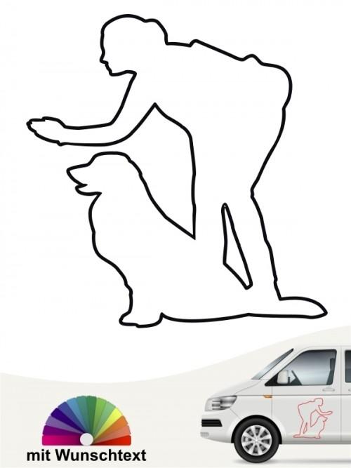 Hunde-Autoaufkleber Dummytraining 19a von Anfalas.de