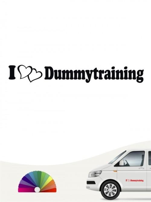 I love Dummytraining Apportiertraining Aufkleber von anfalas.de