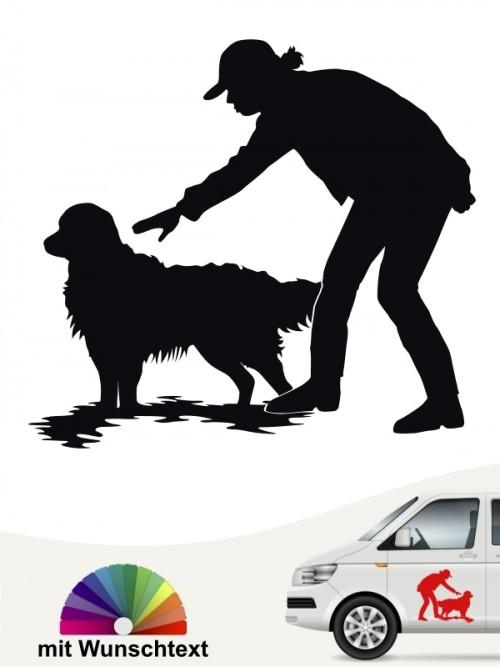 Hunde-Autoaufkleber Dummytraining 20 von Anfalas.de