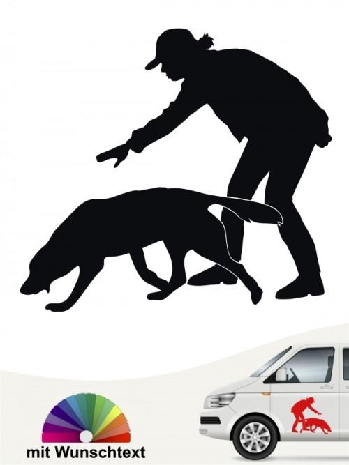 Hunde-Autoaufkleber Dummytraining 21 von Anfalas.de