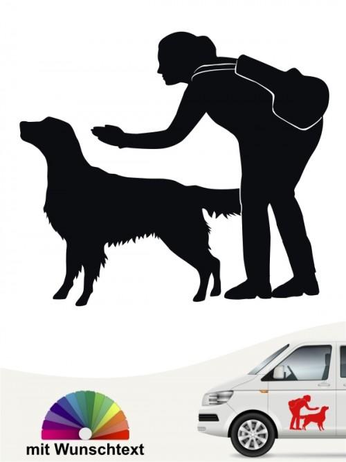 Hunde-Autoaufkleber Dummytraining 22 von Anfalas.de