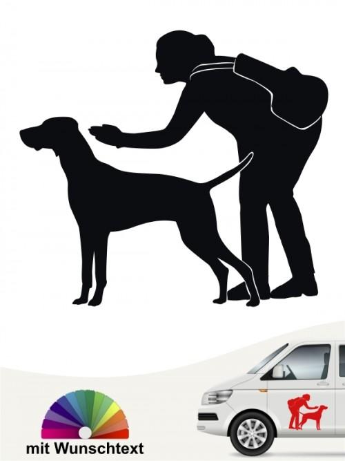 Hunde-Autoaufkleber Dummytraining 24 von Anfalas.de