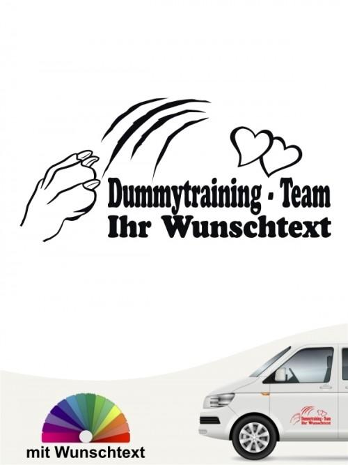Dummytraining Team Autoaufkleber mit Wunschtext by anfalas.de