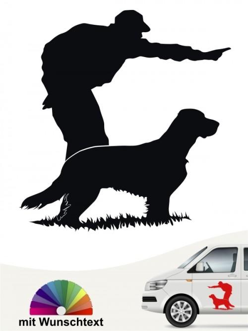 Hunde-Autoaufkleber Dummytraining 9 von Anfalas.de