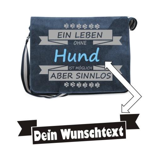"""Canvas Umhängetasche Spruch """"Ein Leben ohne"""" von anfalas.de"""