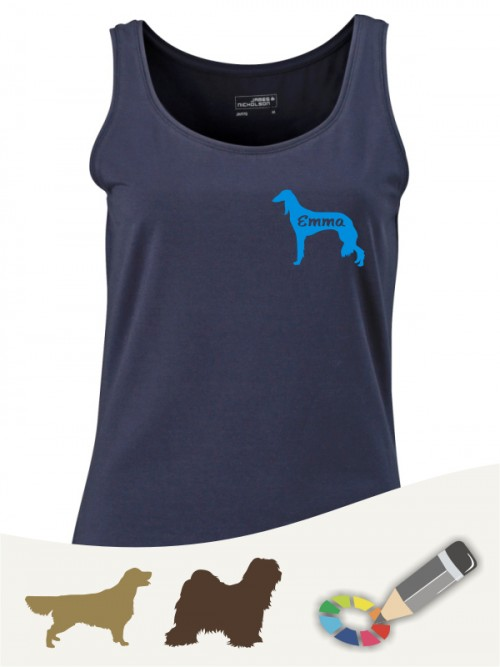 Elastic Tank Top für Hundefreunde