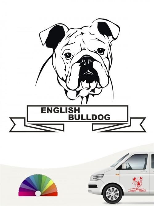 Hunde-Autoaufkleber English Bulldog 15 von Anfalas.de