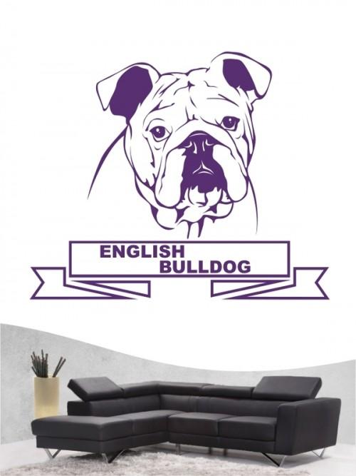Hunde-Wandtattoo English Bulldog 15 von Anfalas.de