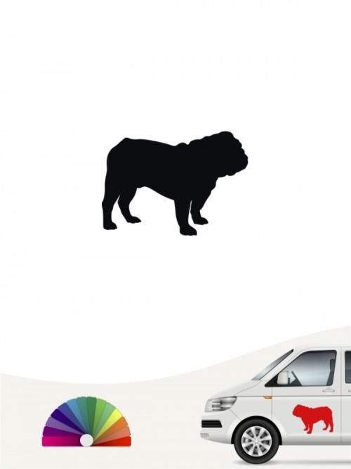 English Bulldog Heckscheibenaufkleber anfalas.de