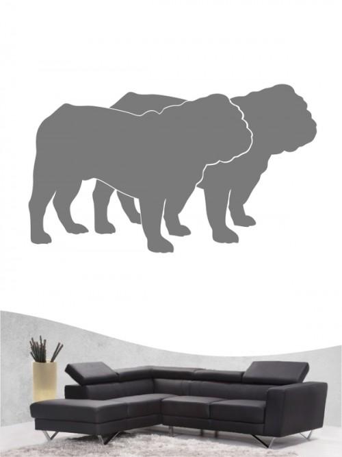 English Bulldog 2 - Wandtattoo