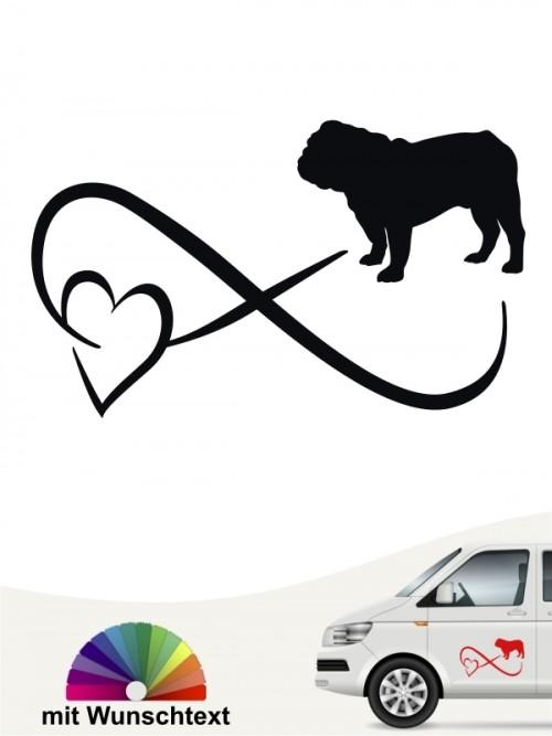 English Bulldog Autoufkleber von anfalas.de