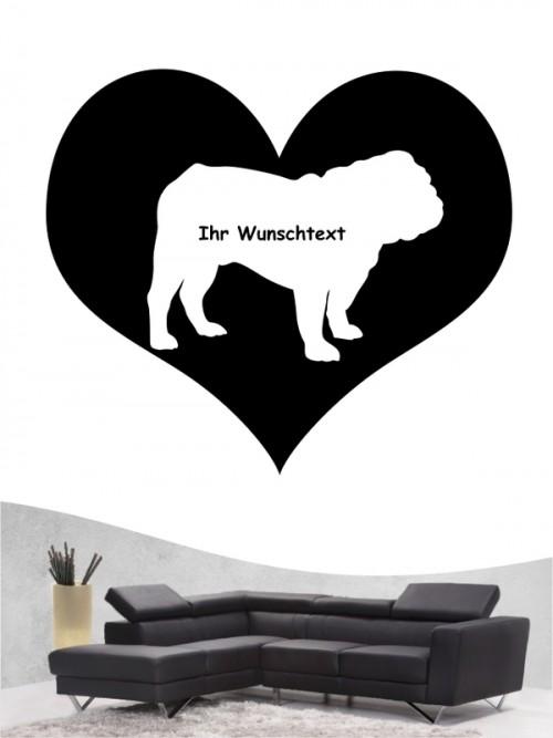 English Bulldog 4 - Wandtattoo