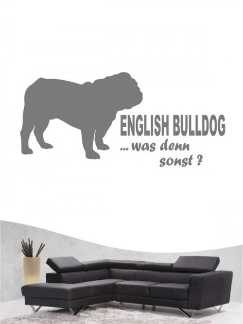 English Bulldog 7 - Wandtattoo