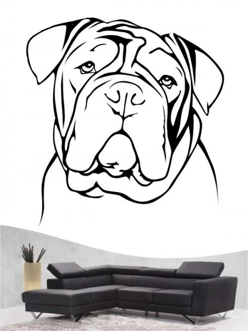 English Bulldog a - Wandtattoo