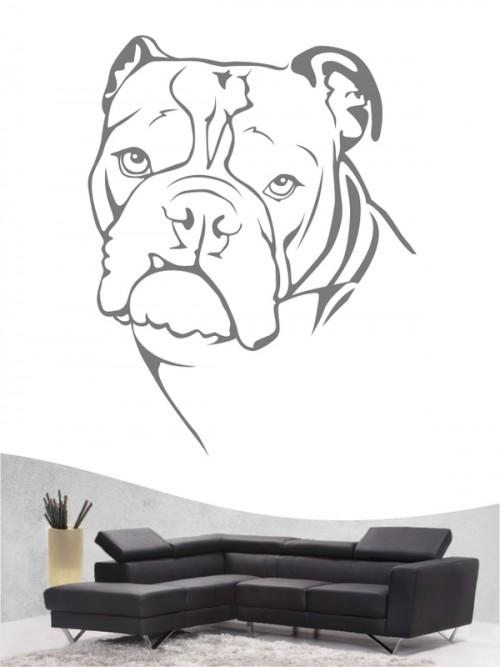English Bulldog b - Wandtattoo