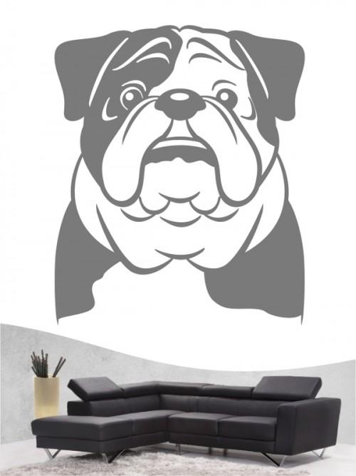 English Bulldog Comic - Wandtattoo