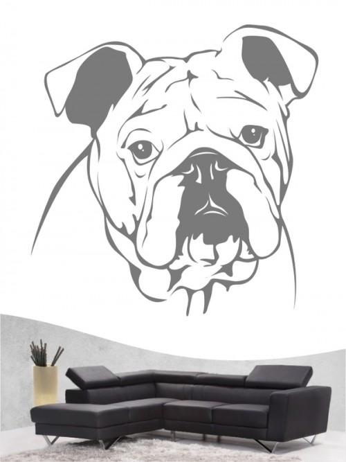 English Bulldog - Wandtattoo