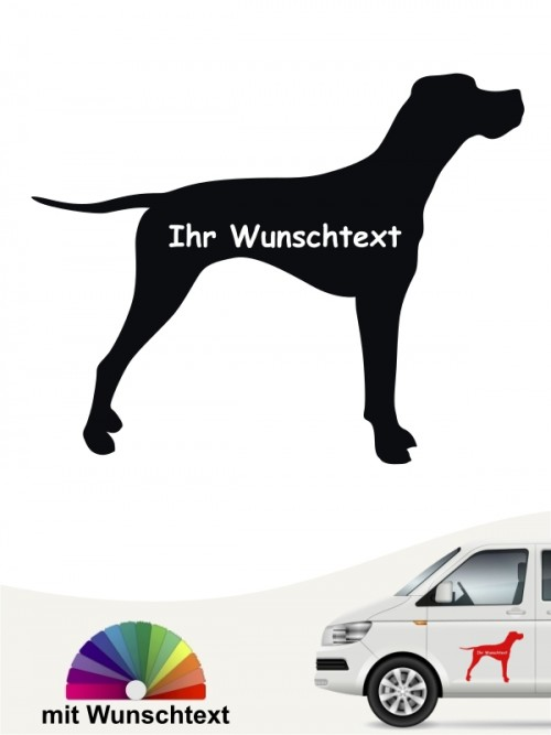 English Pointer Silhouette mit Wunschtext anfalas.de