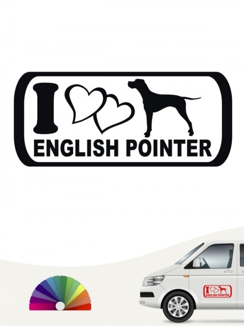 I Love English Pointer Aufkleber anfalas.de