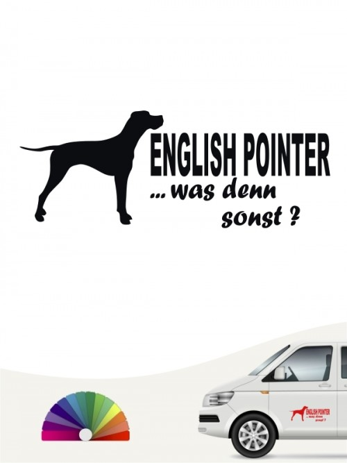English Pointer was denn sonst Autosticker anfalas.de