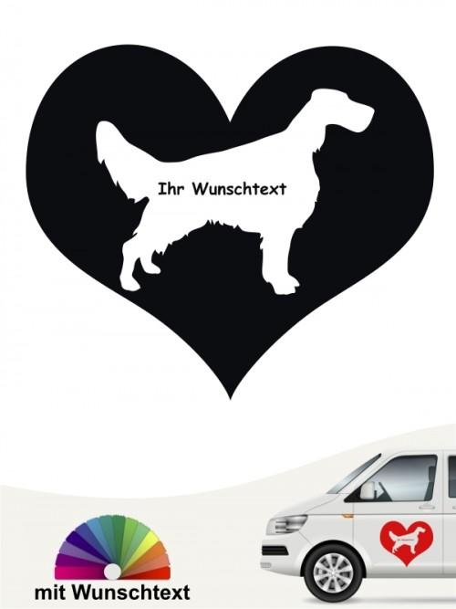 Herzmotiv mit Wunschname English Setter anfalas.de