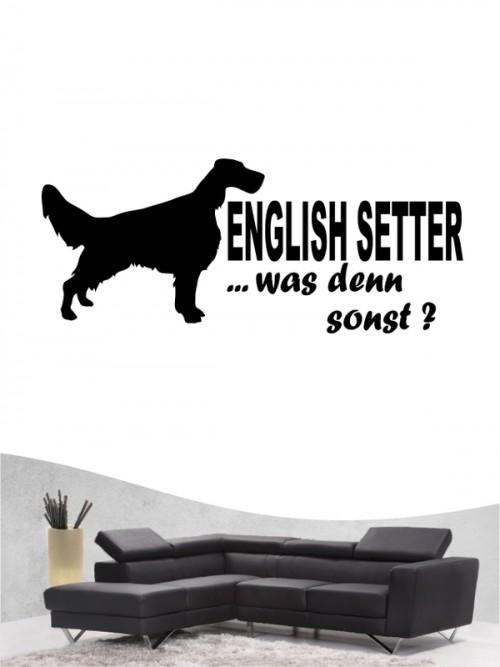 English Setter 7 Wandtattoo