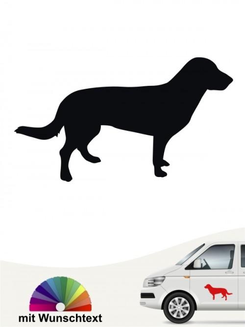 Entlebucher Sennenhund Heckscheibenaufkleber mit Wunschtext anfalas.de