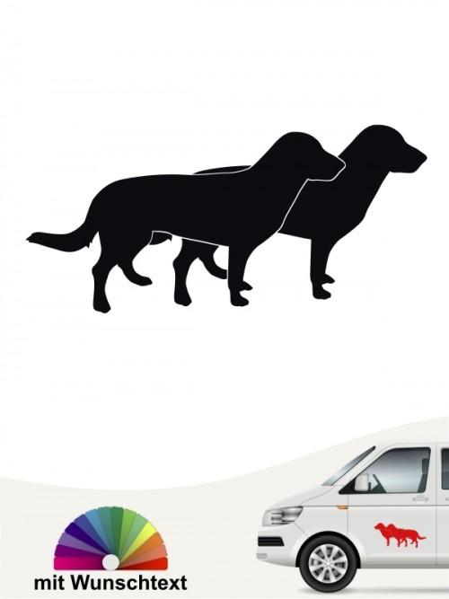 Doppelte Silhouette Hundeaufkleber Entlebucher Sennenhund anfalas.de