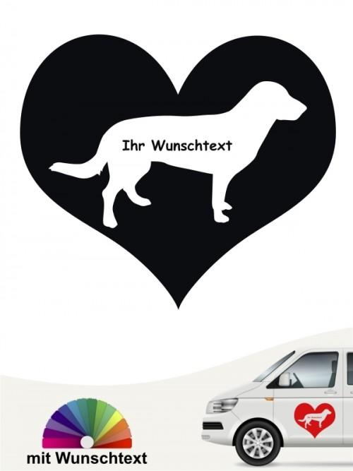 Herzmotiv Entlebucher Sennenhund mit Wunschtext anfalas.de