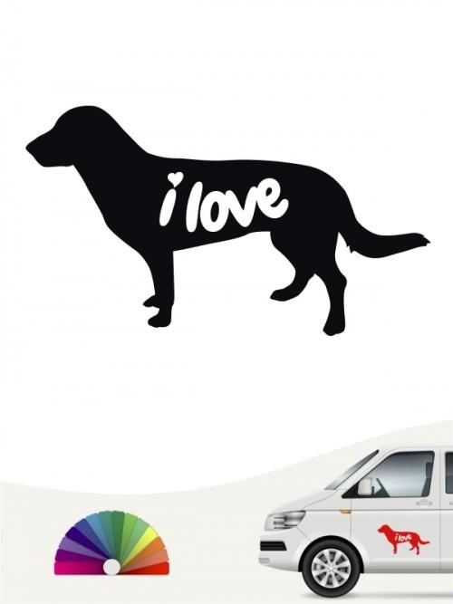Entlebucher Sennenhund  i love Aufkleber von anfalas.de