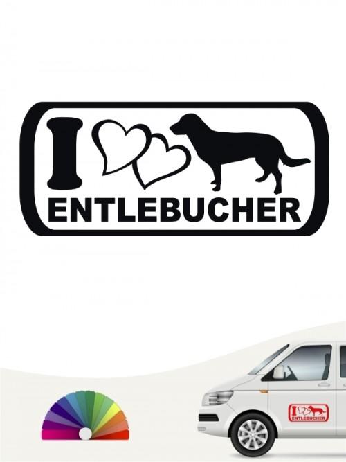 I Love Entlebucher Autosticker anfalas.de