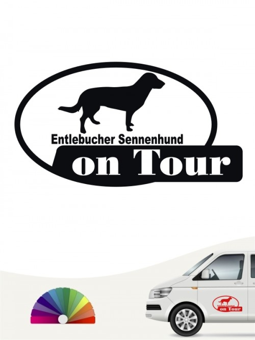 Entlebucher Sennenhund on Tour Sticker anfalas.de