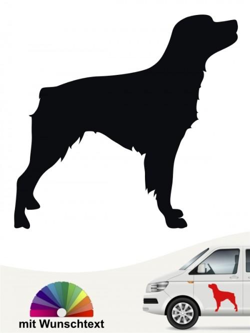 Epagneul Breton Silhouette Autosticker mit Wunschtext anfalas.de