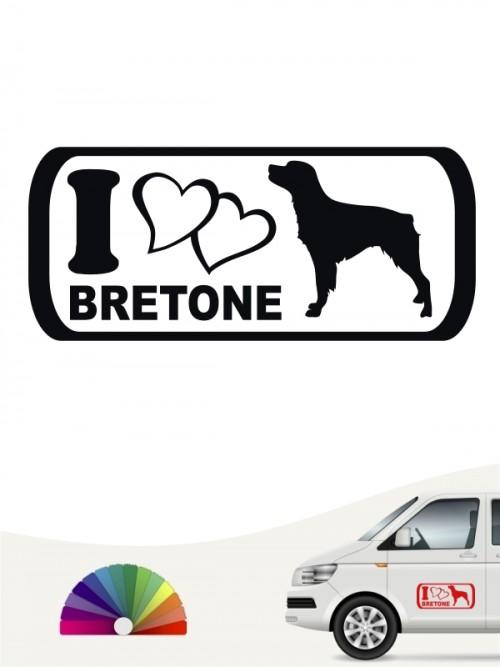 I Love Bretone Heckscheibenaufkleber anfalas.de
