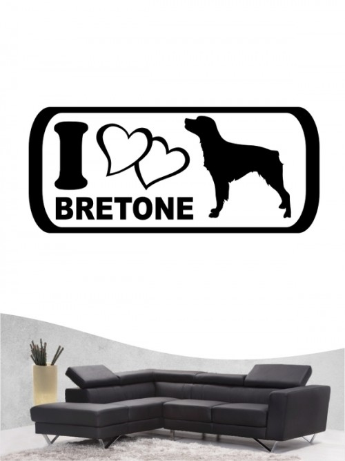Epagneul Breton 6 - Wandtattoo