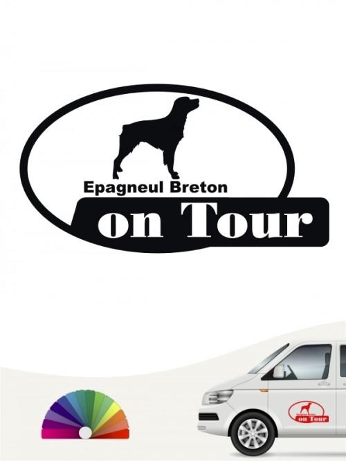 Epagneul Breton on Tour Aufkleber anfalas.de