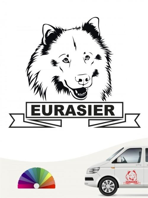 Hunde-Autoaufkleber Eurasier 15 von Anfalas.de