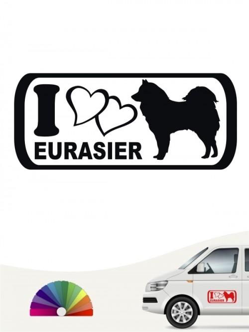 I Love Eurasier Autosticker anfalas.de