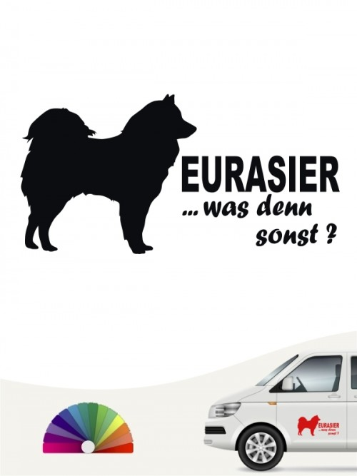 Eurasier was denn sonst Autoaufkleber anfalas.de