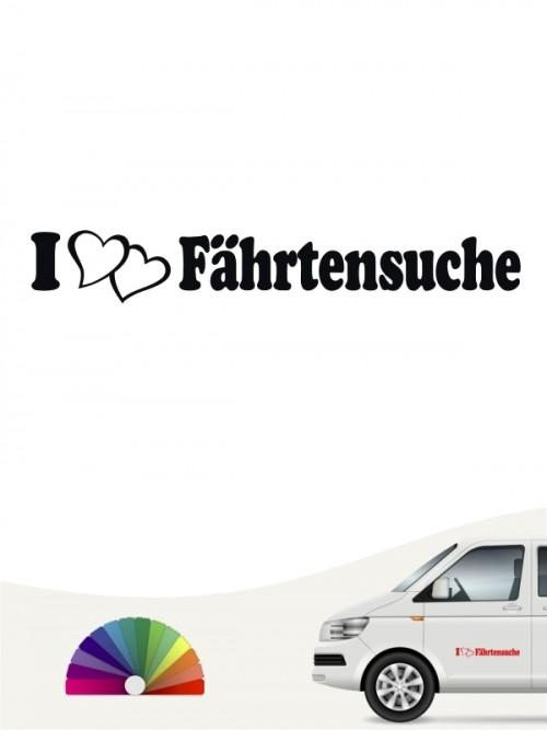I love Fährtensuche Sticker von anfalas.de