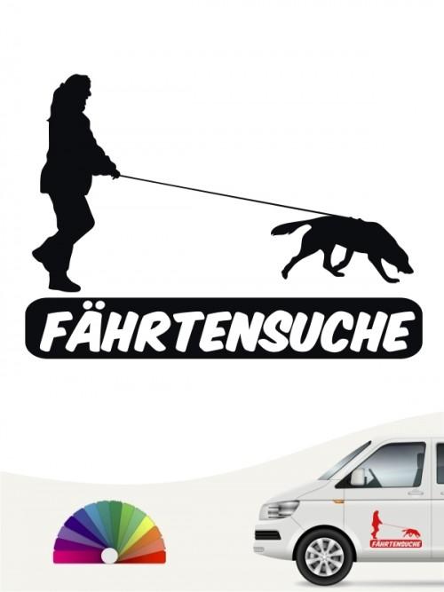 Fährtenprüfung Aufkleber von anfalas.de