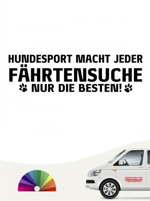Hunde-Autoaufkleber Fährtensuche nur die Besten von Anfalas.de