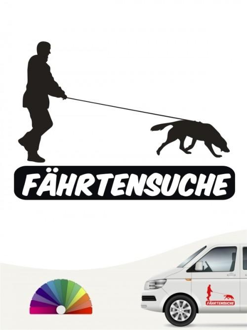Fährtenarbeit Aufkleber von anfalas.de