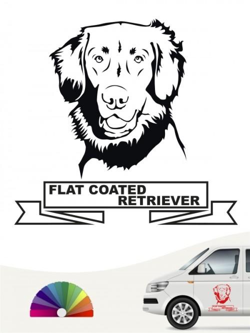 Hunde-Autoaufkleber Flat Coated Retriever 25 von Anfalas.de
